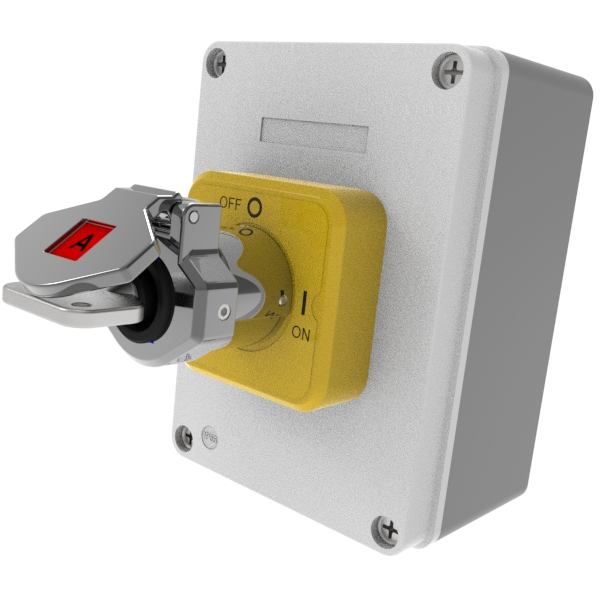 Trapped Key Control Isolation Switch with Box