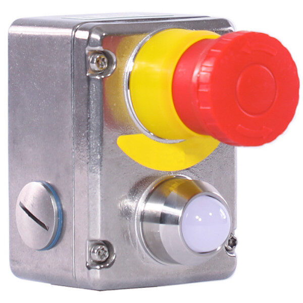 Stainless Steel IP69K Emergency Stop Switch LED