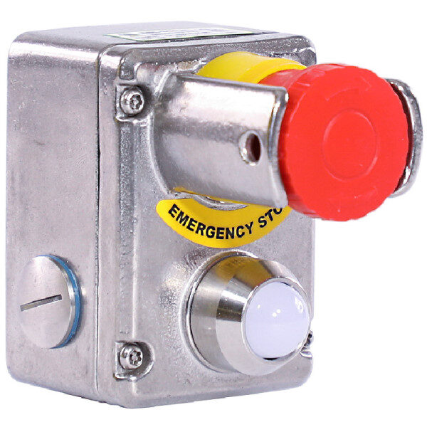 Stainless Steel IP69K Emergency Stop Switch with Shroud and LED